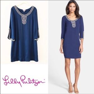 Lilly Pulitzer Sarah Embellished Navy Dress- Small